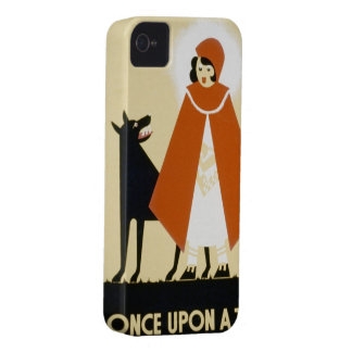 Narración de cuentos - capa con capucha roja funda para iPhone 4 de Case-Mate