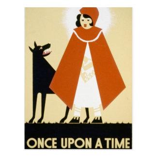 Narración de cuentos - capa con capucha roja postales
