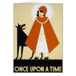 Narración de cuentos - capa con capucha roja tarjetas