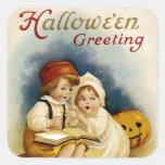 Narración de Halloween Pegatina Cuadrada