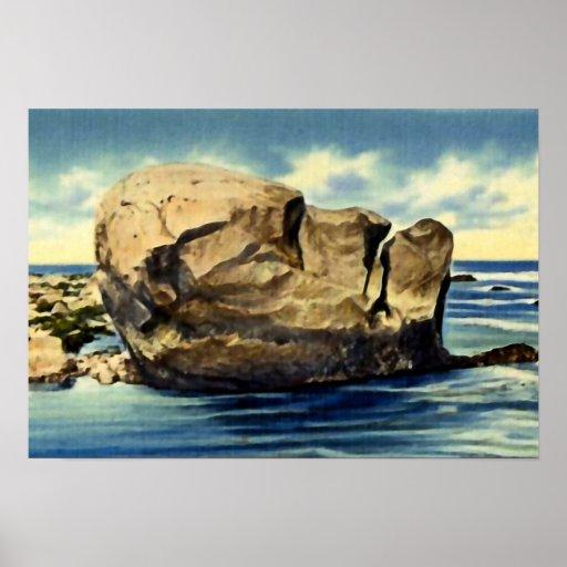 Narragansett Pier Rhode Island Point Judith Rock Poster