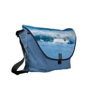 Narragansett RI waves Messenger Bag Outside Print