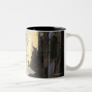 Narrow Alley, Siena, Italy Two-Tone Coffee Mug