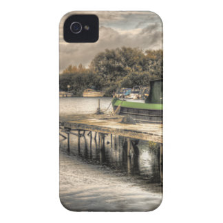 Narrow Boat and Jetty iPhone 4 4s casemate case