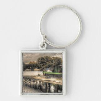 Narrow Boat and Jetty keychain