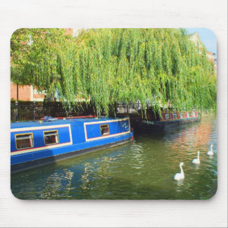 Narrow boats in Lincoln Mouse Pad