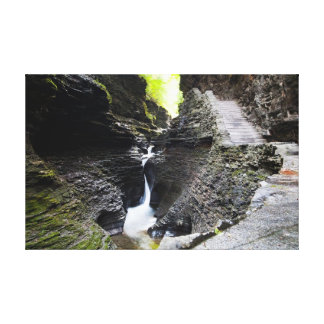 Narrow cascade, Watkins Glen Canvas Print
