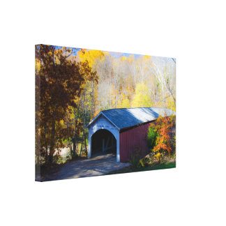 Narrow Covered Bridge Parke County, Indiana Canvas Print