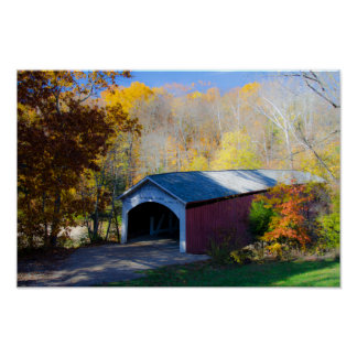 Narrow Covered Bridge Parke County, Indiana Poster