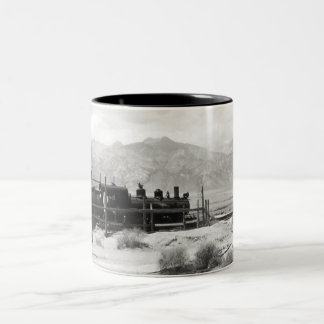 Narrow Gauge Railroad in Owens Valley Two-Tone Coffee Mug