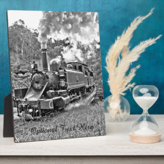 Narrow Gauge Steam Train Black and White Plaque