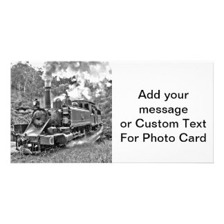 Narrow Gauge Steam Train Puffing Engine Card