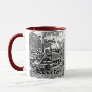 Narrow Gauge Steam Train Puffing Engine Mug