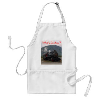 NARROW GUAGE PUFFER BELLY by SHARON SHARPE Adult Apron
