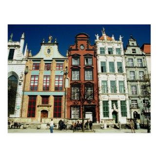Narrow Houses Postcard