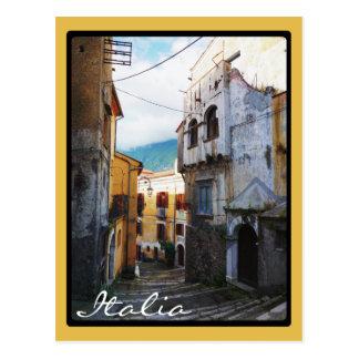 Narrow Italian Street Postcard