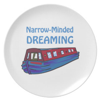 NARROW MINDED DREAMING PLATE