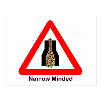 Narrow Minded Postcard