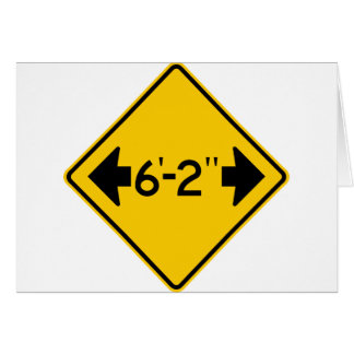Narrow Passage Highway Sign Greeting Card