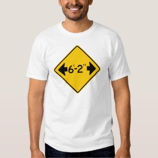 Narrow Passage Highway Sign Tee Shirt