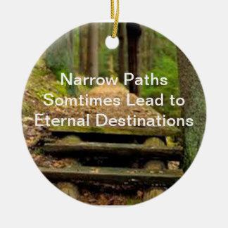Narrow Path Pendent Ceramic Ornament