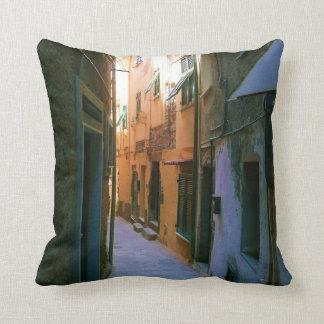 Narrow Street in Rome, Gray pillow back