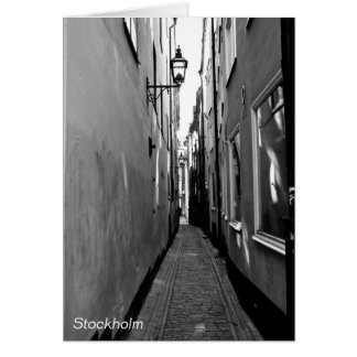Narrow street in Stockholm Card