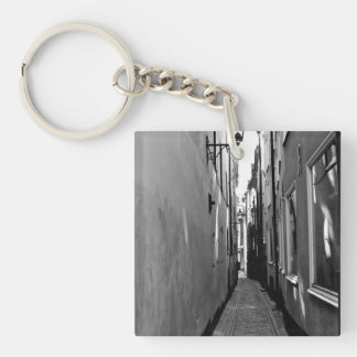 Narrow street in Stockholm Keychain