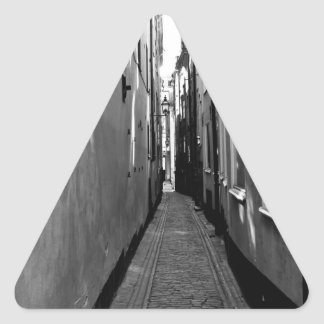 Narrow street in Stockholm Triangle Sticker