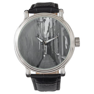 Narrow street in Stockholm Wrist Watch