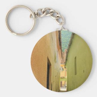 Narrow street keychain