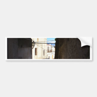 Narrow Streets Of Ancient Scalea Car Bumper Sticker