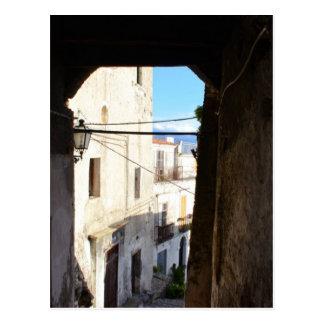 Narrow Streets Of Ancient Scalea Postcard