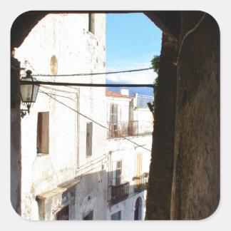 Narrow Streets Of Ancient Scalea Square Sticker