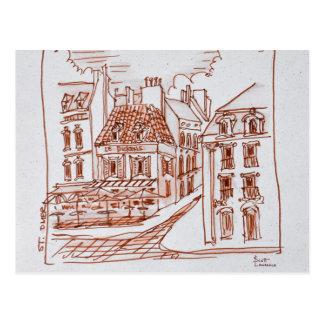 Narrow Streets of Saint-Omer, France Postcard