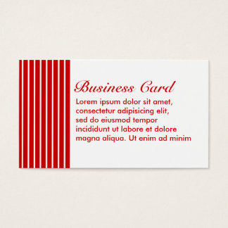 Narrow Stripe Red + Custom COlor Business Card