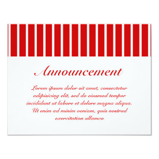 Narrow Stripe Red + Custom COlor Card