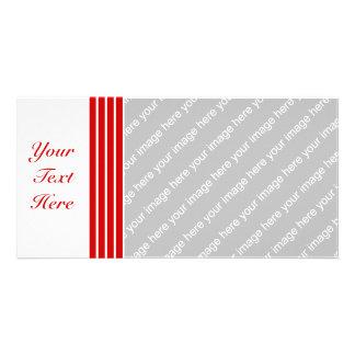 Narrow Stripe Red + Custom COlor Card