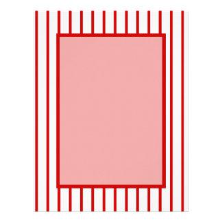 Narrow Stripe Red + Custom COlor Letterhead
