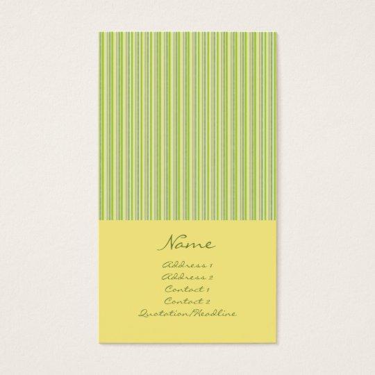 Narrow Stripes No. 0003 Business Card
