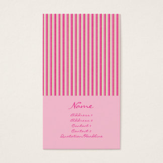 Narrow Stripes No. 0004 Business Card