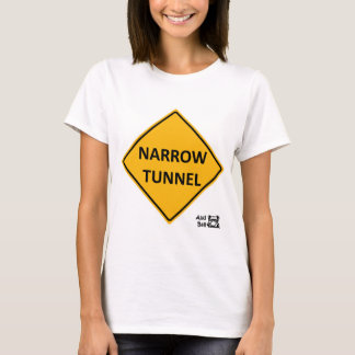 Narrow tunnel road sign. T-Shirt
