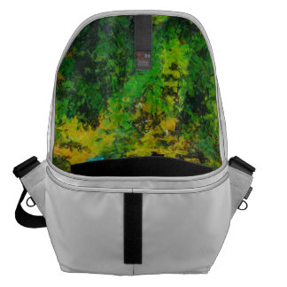 Narrow walking path in greenery courier bag