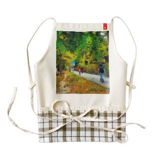 Narrow walking path in greenery zazzle HEART apron