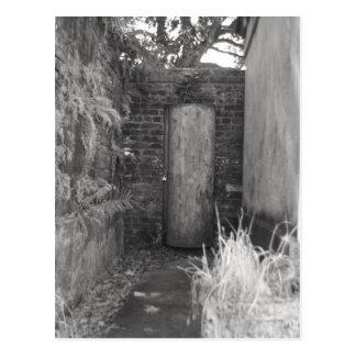 Narrow walkway postcard