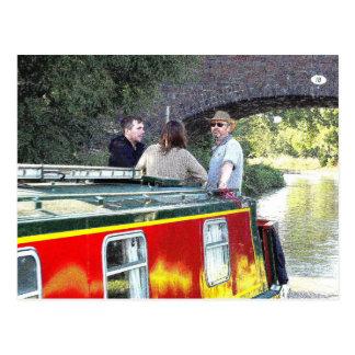 Narrowboat boat Peace, Coventry Canal, Nuneaton. Postcard
