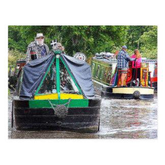Narrowboat Dabbler, Coventry Canal, Nuneaton. Postcard