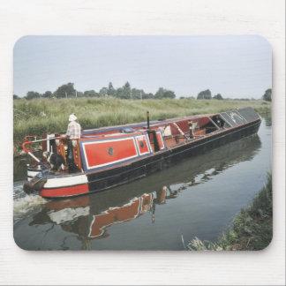 Narrowboat en el mousepad del corte