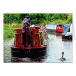 Narrowboat Endeavour, Coventry Canal, Nuneaton Card