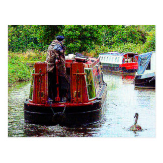 Narrowboat Endeavour, Coventry Canal, Nuneaton Postcard